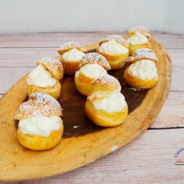 How to make cream puffs from scratch with Cheesecake Filling