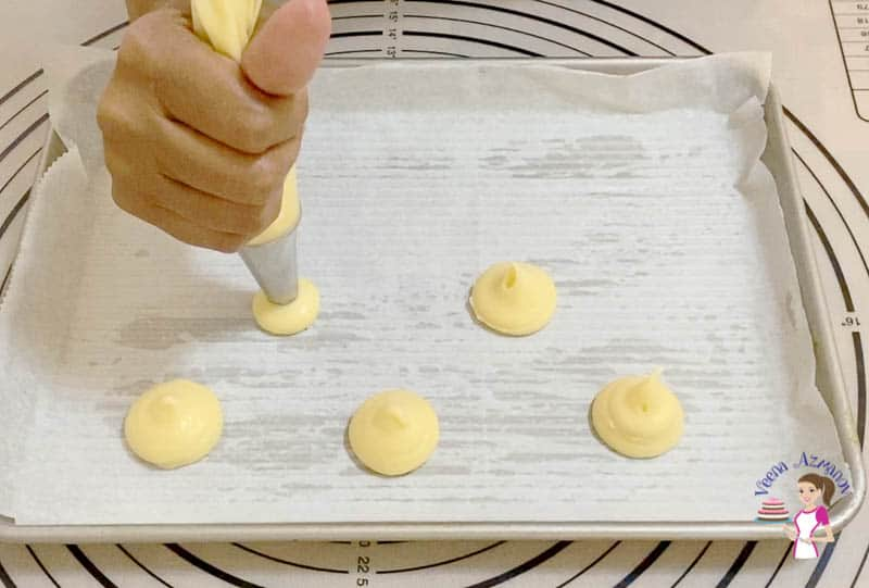 Preparing the choux pastry dough