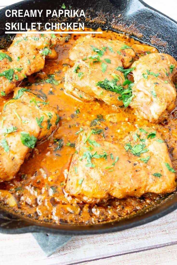 How to make chicken in a skillet with paprika