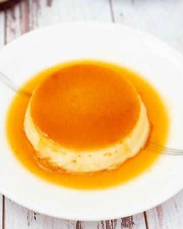 A plate of  Caramel Flan.