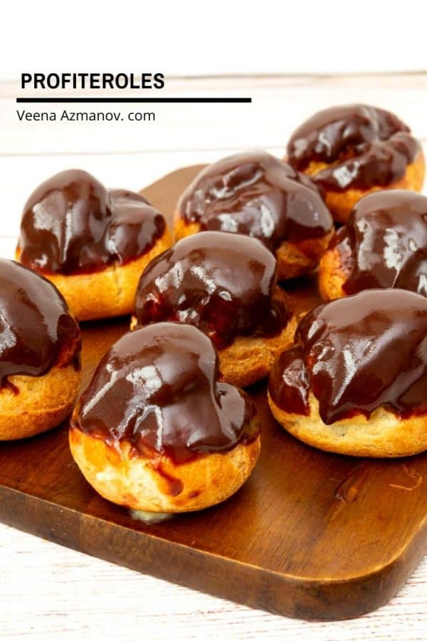 How to make classic French Choux Pastry filled with pastry cream and chocolate glaze