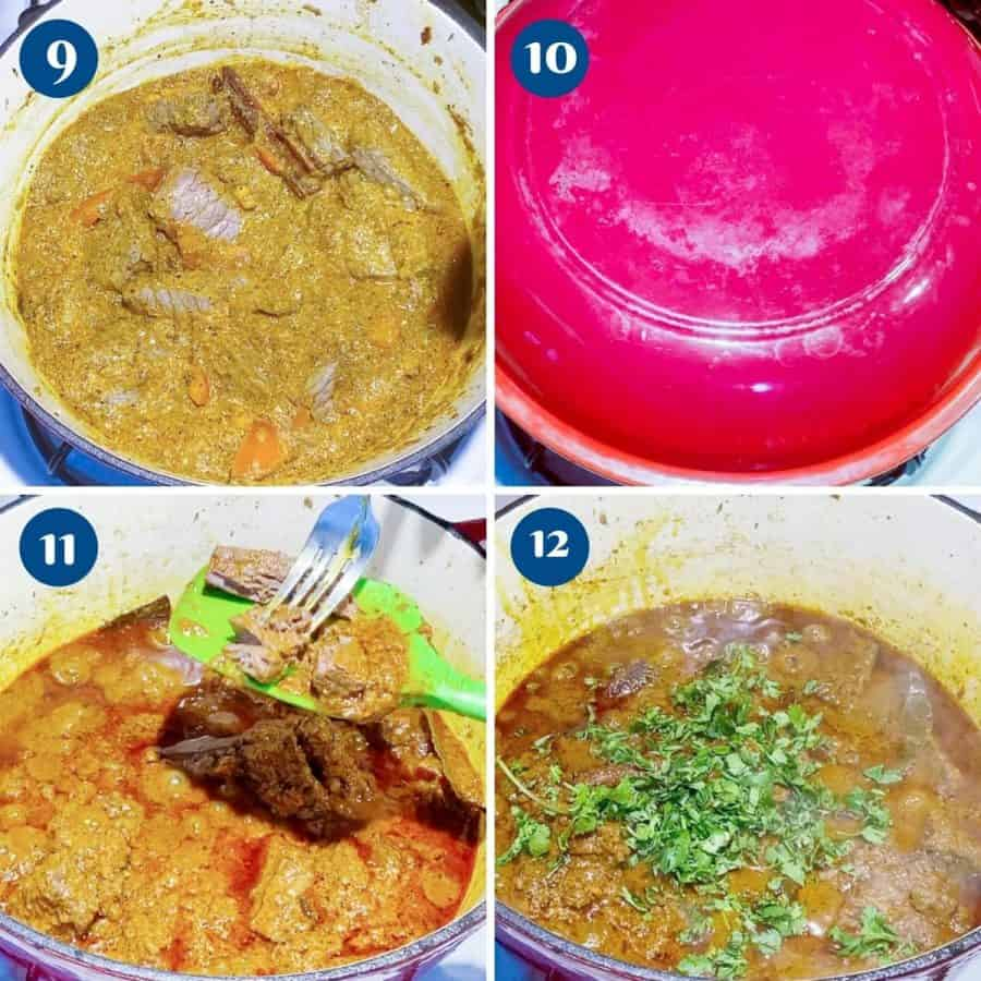 Progress pictures lamb curry.