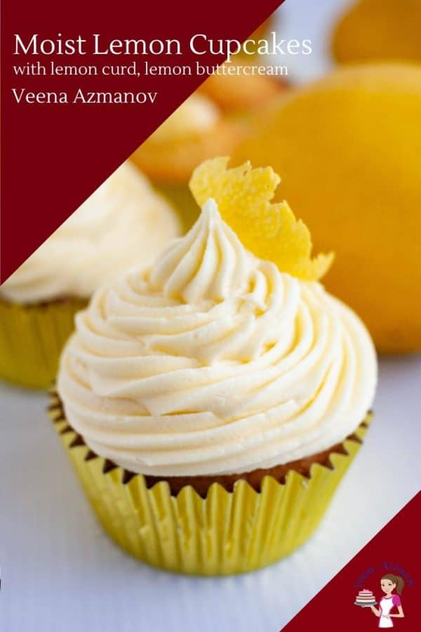 How to make cupcakes - one bowl recipe with lemon juice, lemon curd and lemon buttercream