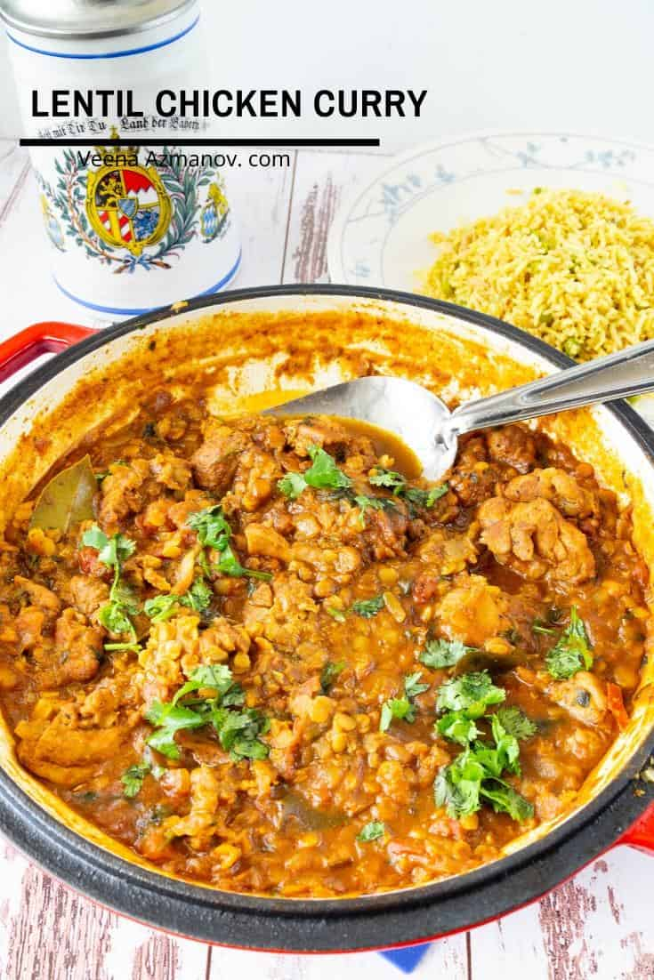 How to make an Indian Chicken Curry with Lentils in Coconut Milk
