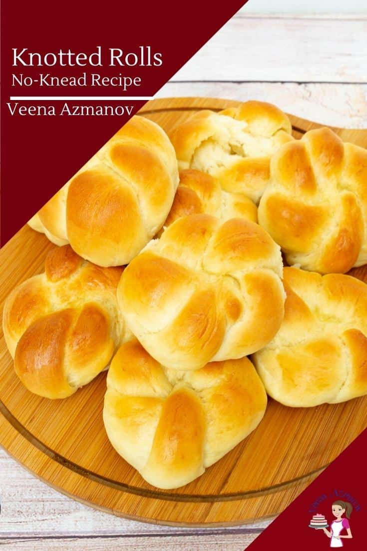 How to shape dinner rolls into a knot