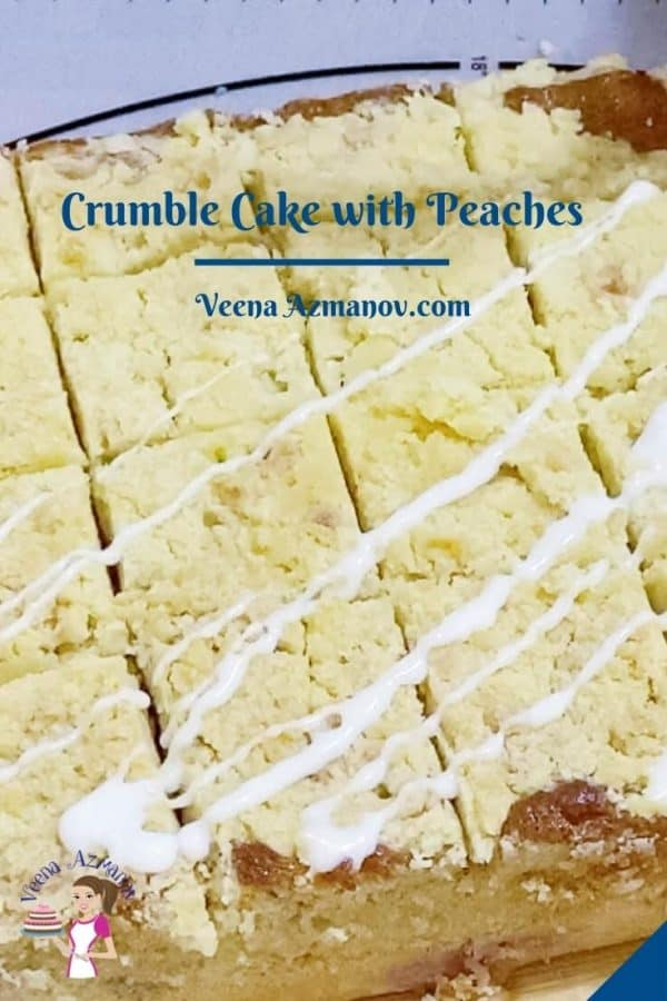 Pinterest image for each with crumble topping.