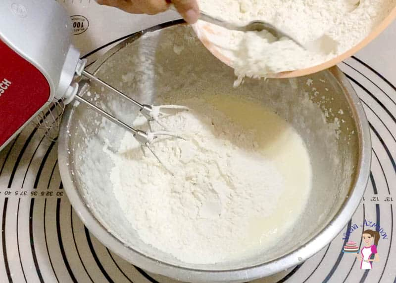 Add flour to be cake batter