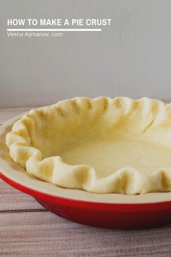 Easy All Butter Pie Crust Recipe from Scratch