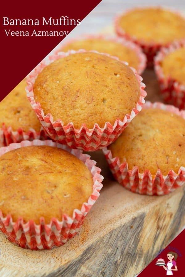 Moist Banana Muffins from Scratch