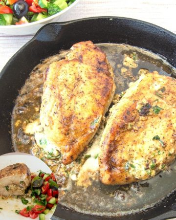 How to cook skillet chicken stuffed with cheese