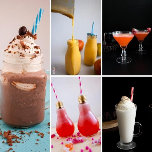 Easy to make recipes for milkshakes, smoothies, cocktails, mocktails