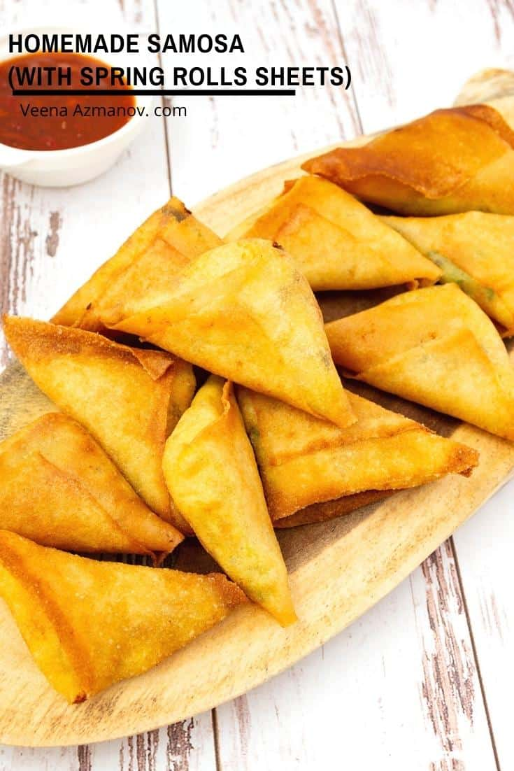 How to make samosas with potato and spring roll sheets