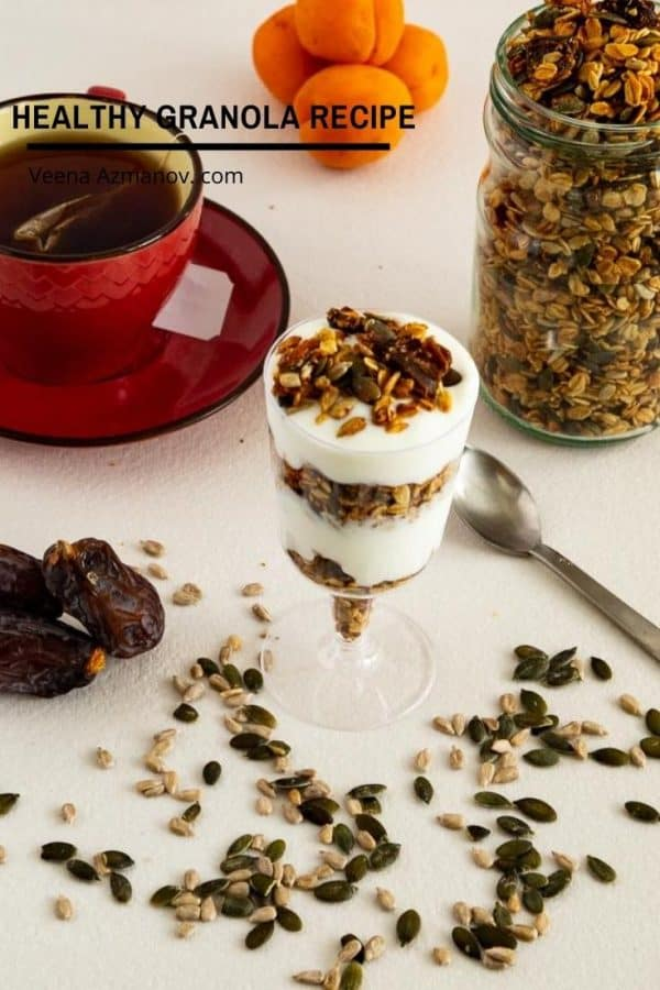 homemade Granola with Dates and Seeds Granola with Dates and Seeds