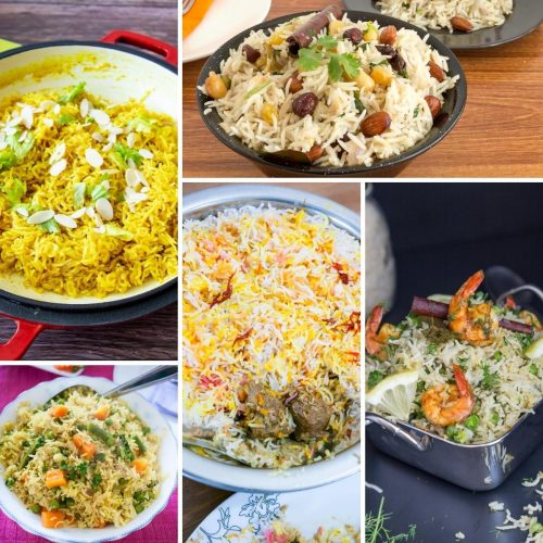 How to make Rice, Pilaf, Pulao, biryanis and skillet recipes