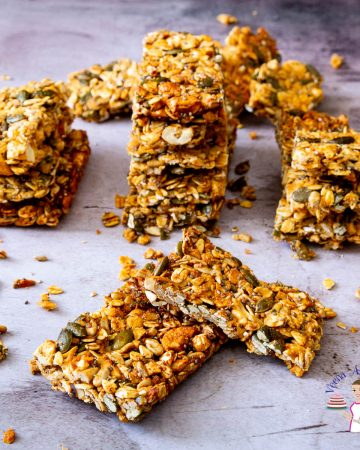 A stack of granola bars.
