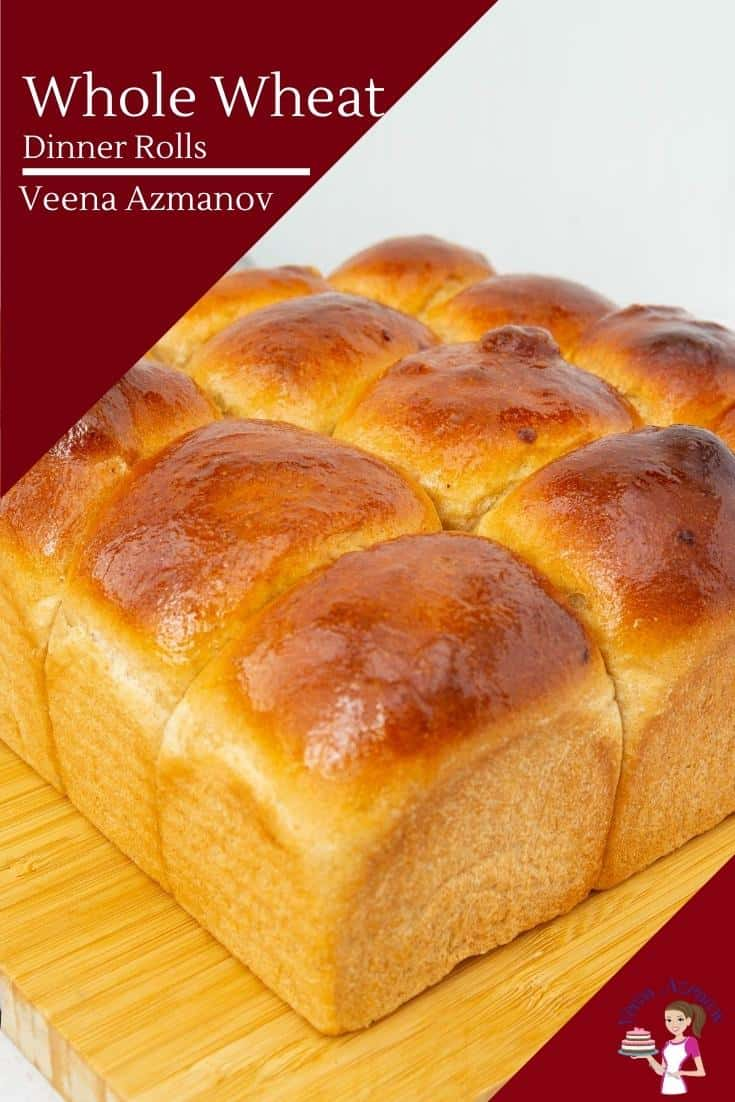 These whole wheat dinner rolls are light and airy made with 70% whole wheat flour. The recipe is simple and easy to make and much healthier than most other bread #wholewheat #dinnerrolls #wholewheatbread #dinnerbread #breadrolls #wholewheatbread #rolls #dinnerrollsrecipe  via @Veenaazmanov