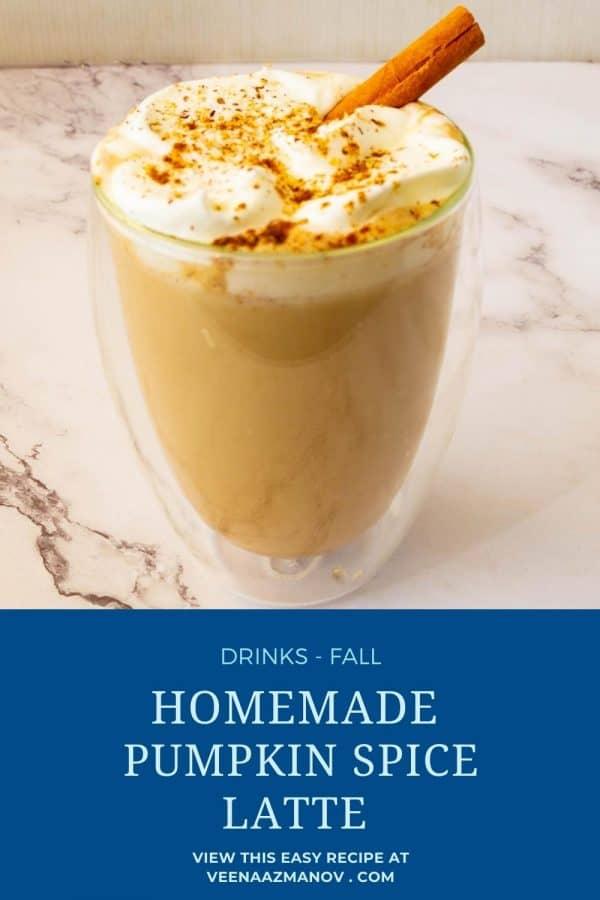 Pinterest image for spice latte hot.