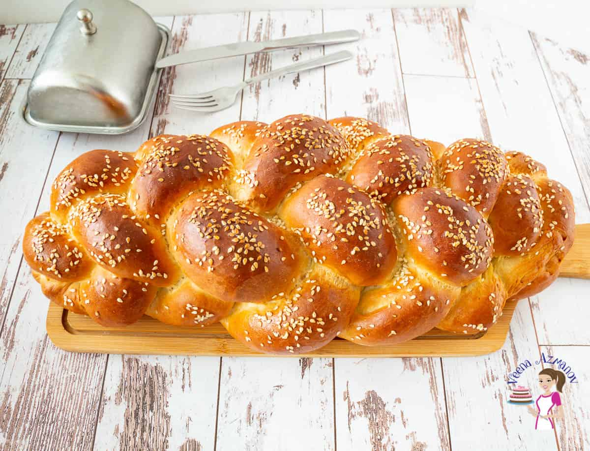 How to braid bread the easy way with this six strand braided challah