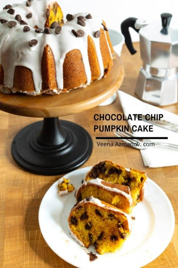 how to make a bundt cake with pumpkin and chocolate chips