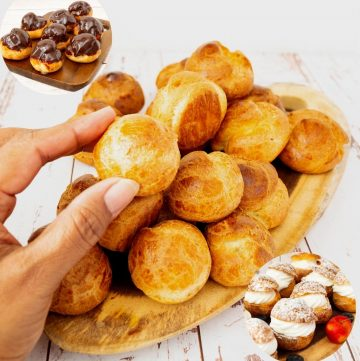 How to make choux pastry dough from scartch for cream puffs, profiteroles and eclairs
