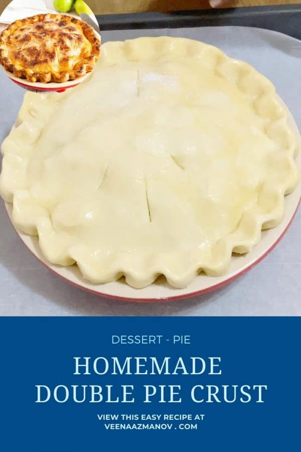 Pinterest image top and bottom pie crust.