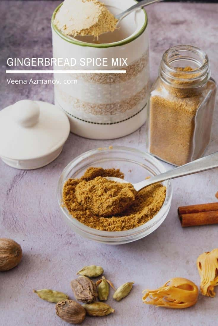 A small bowl of gingerbread spice mix.