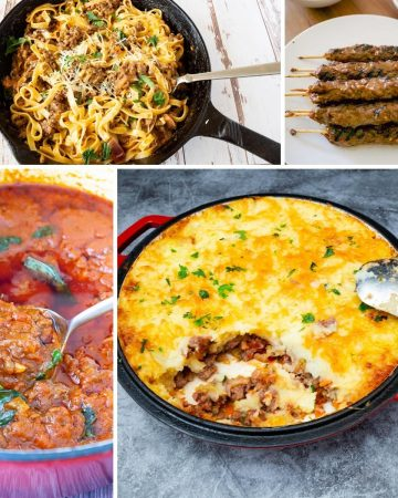 A collage of ground beef recipes