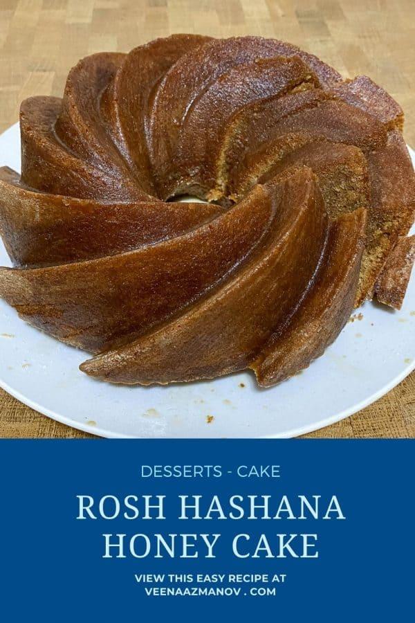 Pinterest image for honey cakes.