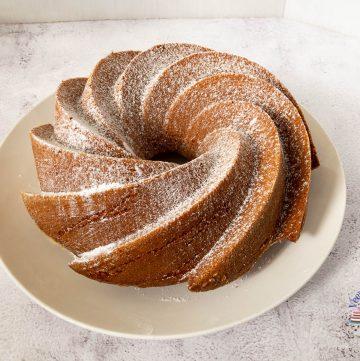 A bundt cake on a plate