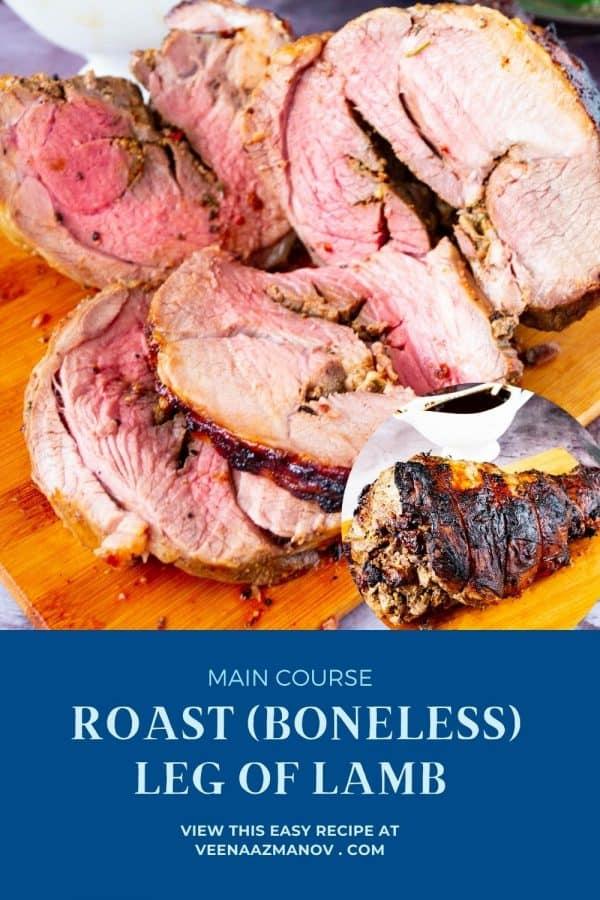 Pinterest image for leg of lamb.