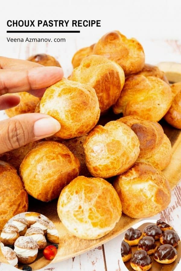 How to make the pate a choux or pastry