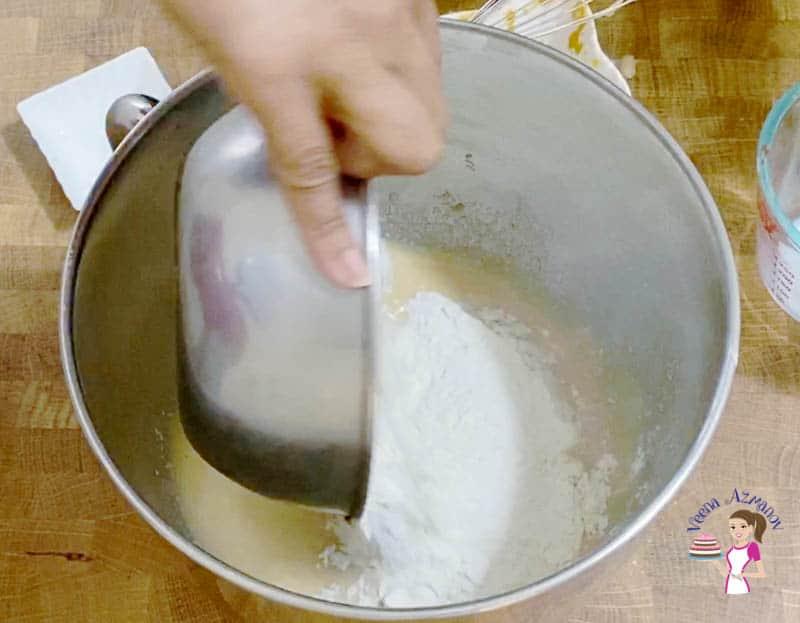 Preparing the dough for dinner rolls