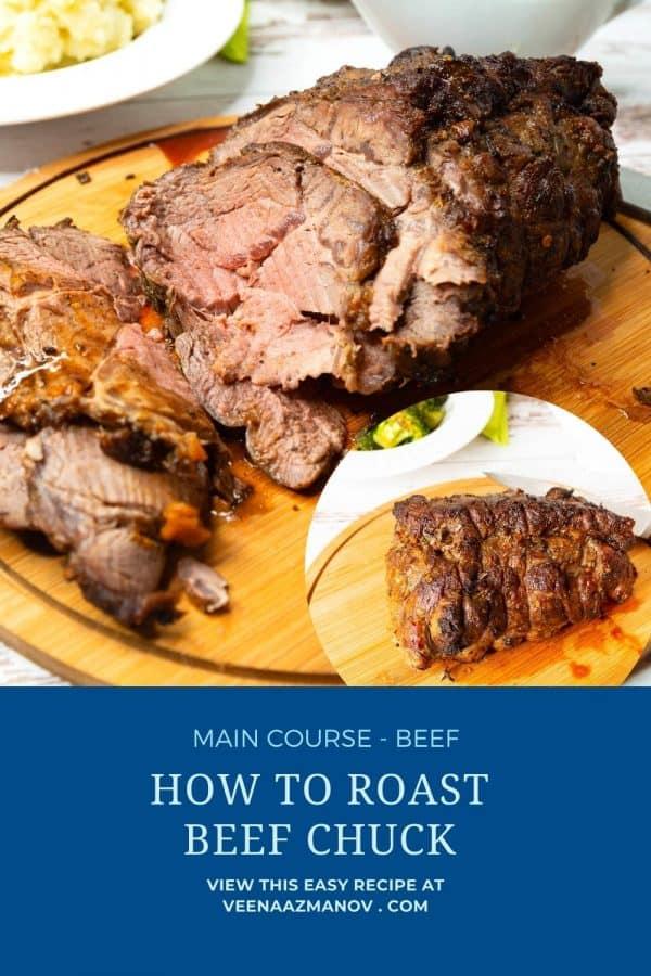 Pinterest image for beef chuck roast.