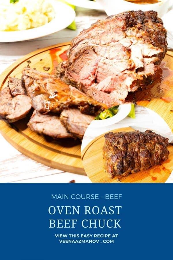 Pinterest image for roast beef recipe.