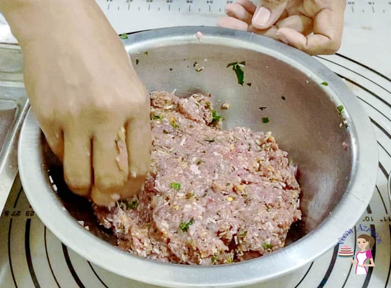 Combine all ingredients to make meatballs