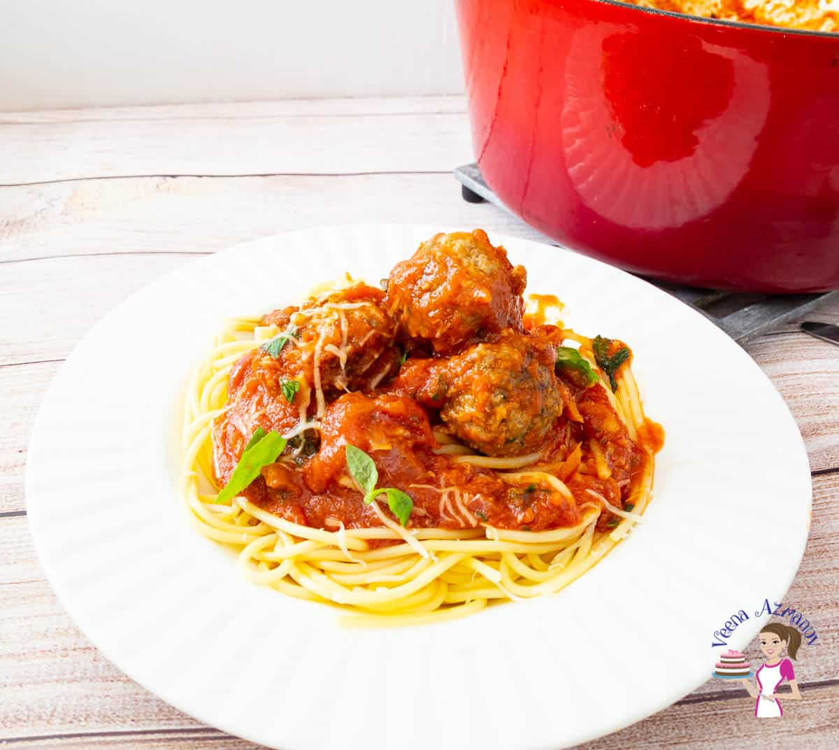 How to make beef meatballs served over spaghetti in under 30 mins
