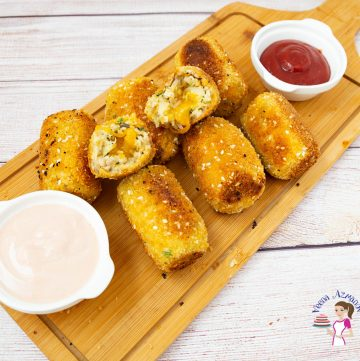 How to make chicken croquettes with Cheese Stuffing.