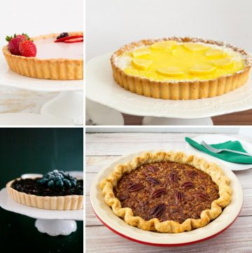 What are the different types of crust we use for baking pies, tarts and more