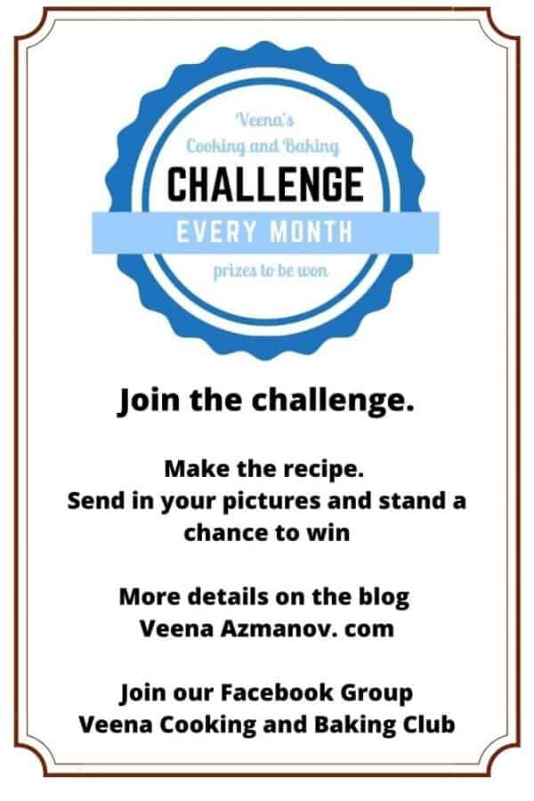 Poster for the Cooking and Baking Challenge.
