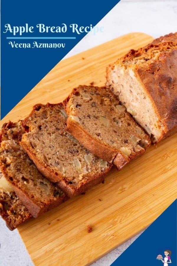 Pinterest image for apple bread
