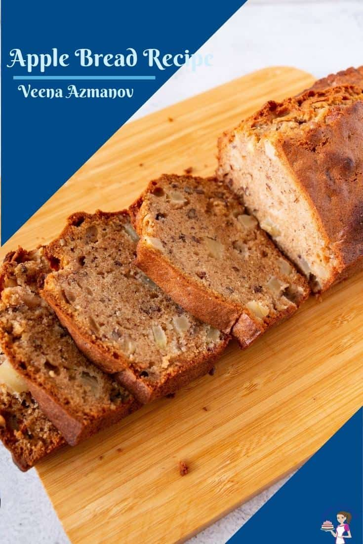 This moist cinnamon apple bread will soon become your next family favorite. A simple and easy oil-based recipe made from scratch with a combination of apples, spices, both white and brown sugar. It takes just 10 minutes to mix and 40 minutes to bake #applebread #apple #bread #cake #applebreadrecipe #applerecipes #bakedapple #appledessert  via @Veenaazmanov
