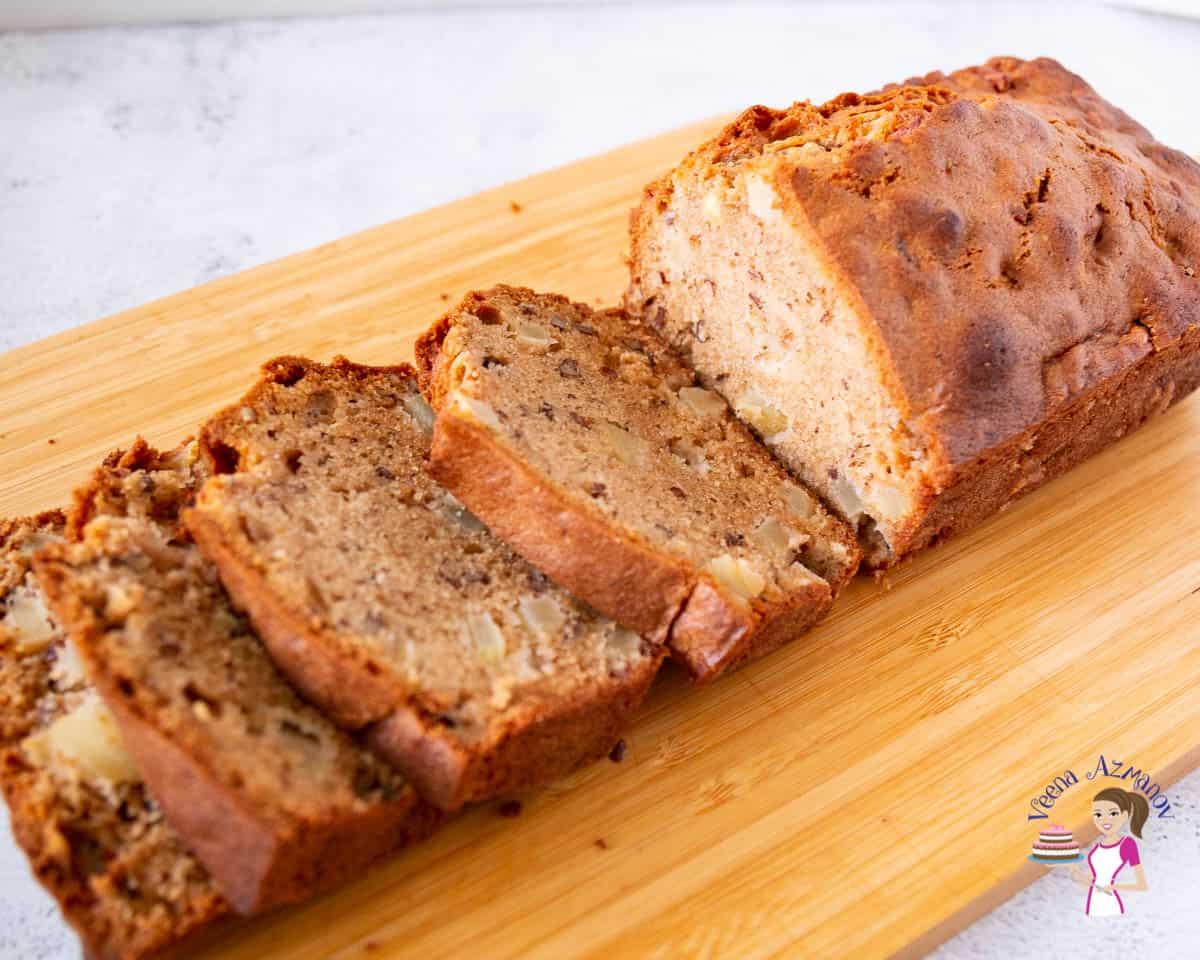 Bread cake on a wooden board
