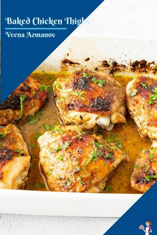 pinterest image for chicken thighs