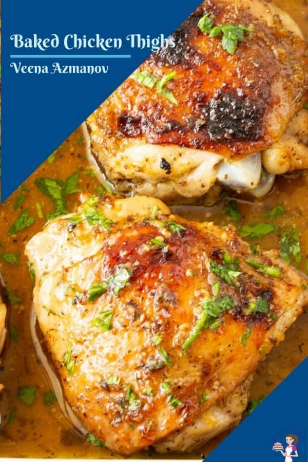 baked chicken thighs image for pinterest