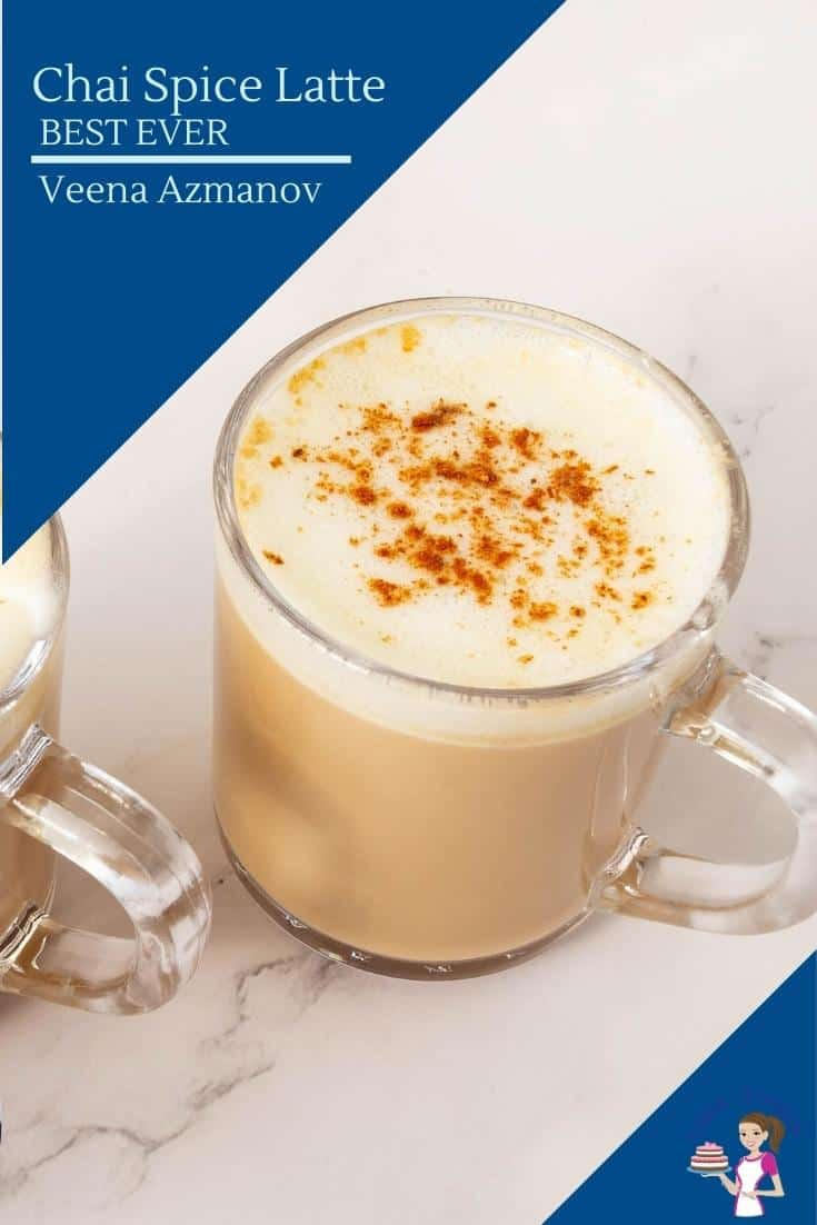 This chai spice latte is tea infused with milk along with a chai spice mix made with ground ginger, cardamom, cinnamon, and more. It takes just 5 minutes to make this latte at home. #chaispicelatte #chailatte #chaispice #chaidrink #spicedchai #falldrinks via @Veenaazmanov
