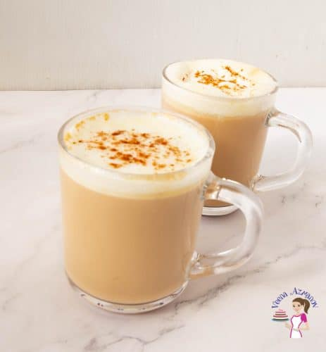 A cup of Latte with foam