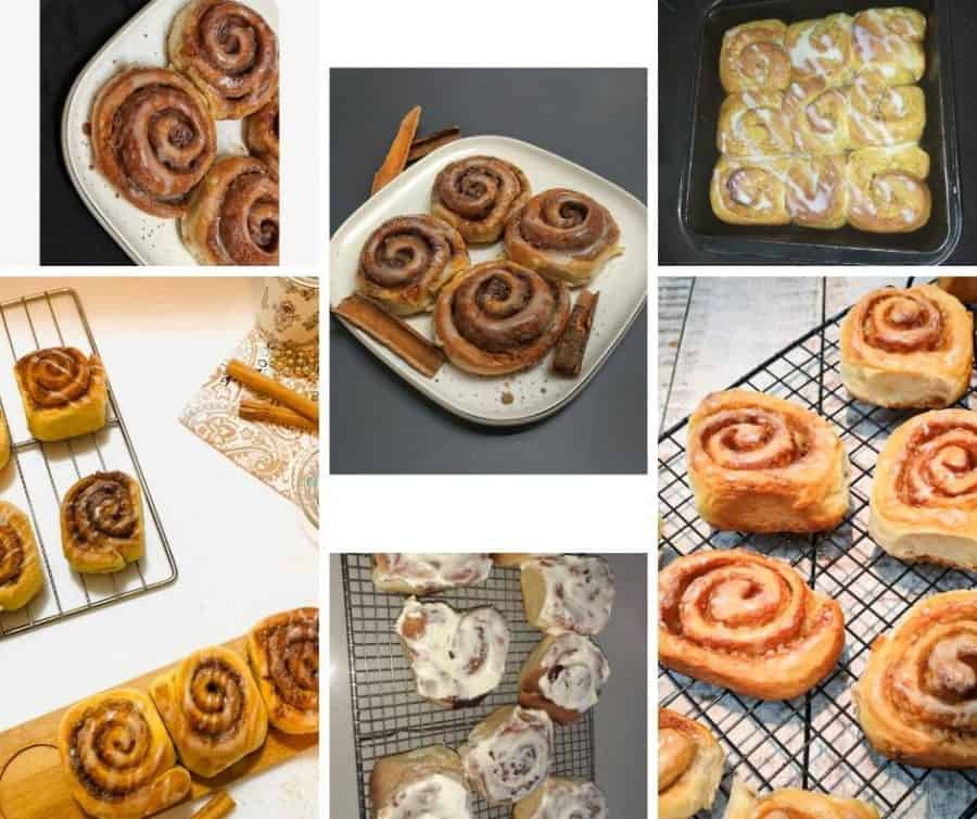 A collage of Cinnamon rolls