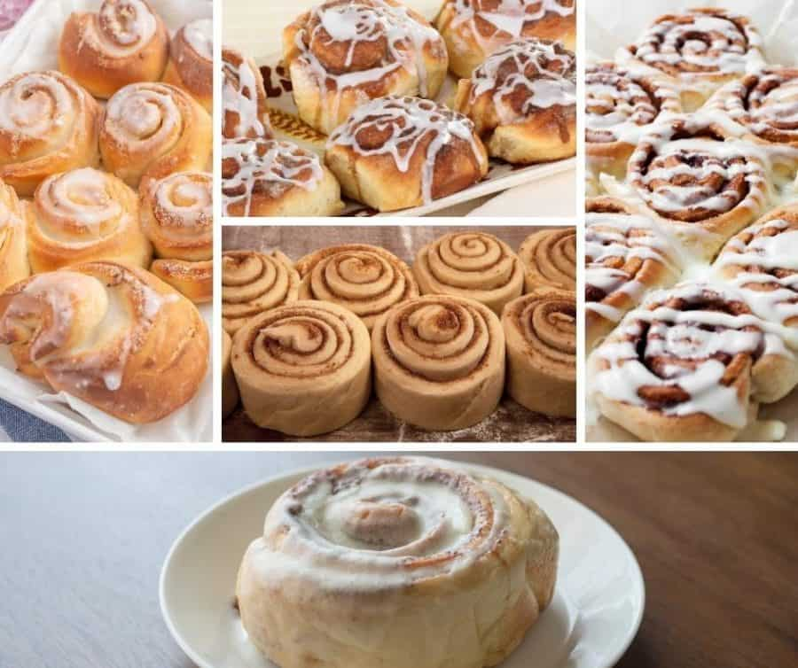 Collage of Cinnamon rolls submissions