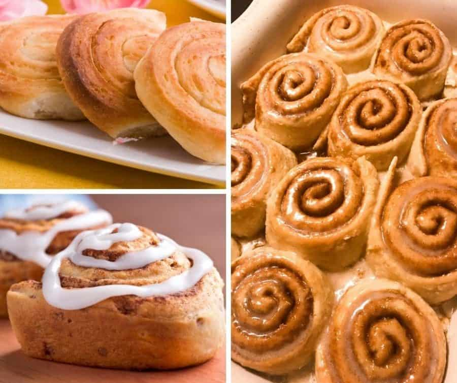 A cinnamon roll submissions collage