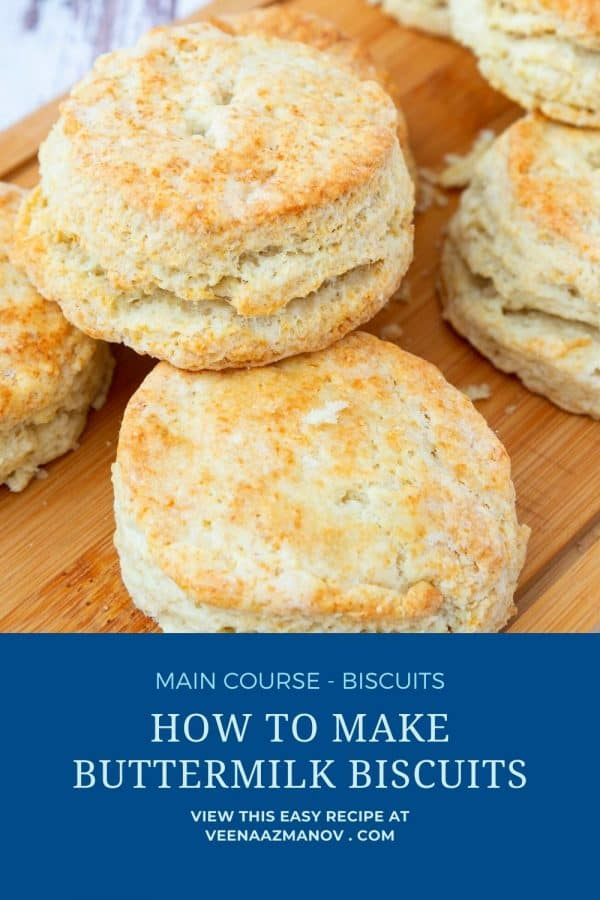 Pinterest image for buttermilk biscuits.